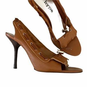 5 for $15  HYPE Parody leather slingback